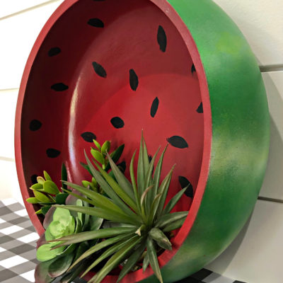 Watermelon wood bowl