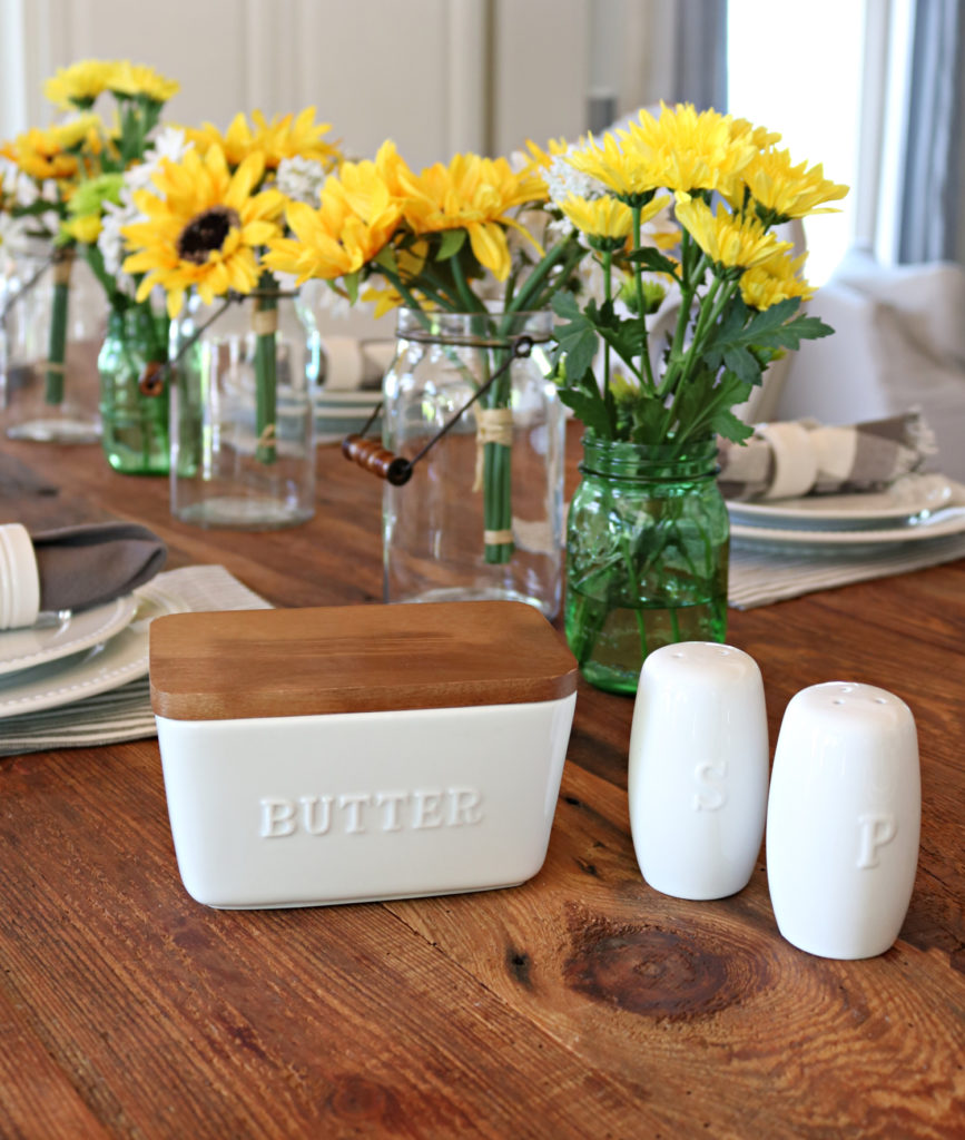 butter dish - Affordable White Porcelain Dishes Farmhouse Style