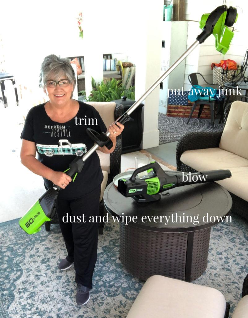 clean greenworks brushless blower