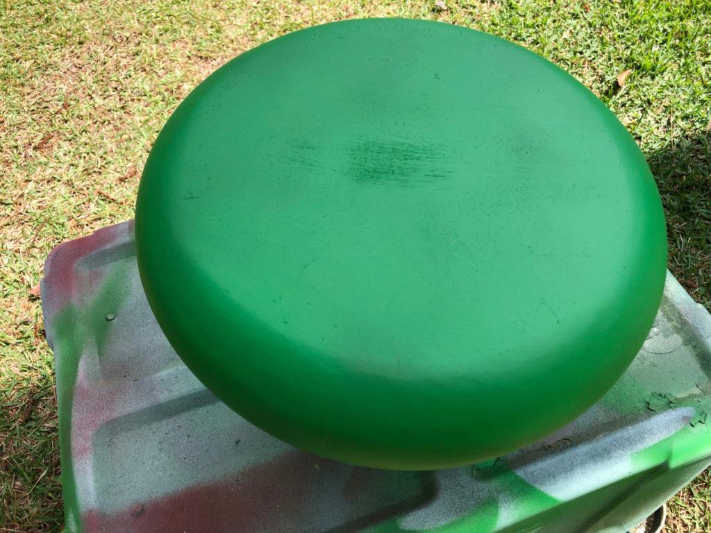 spray paint wood bowl