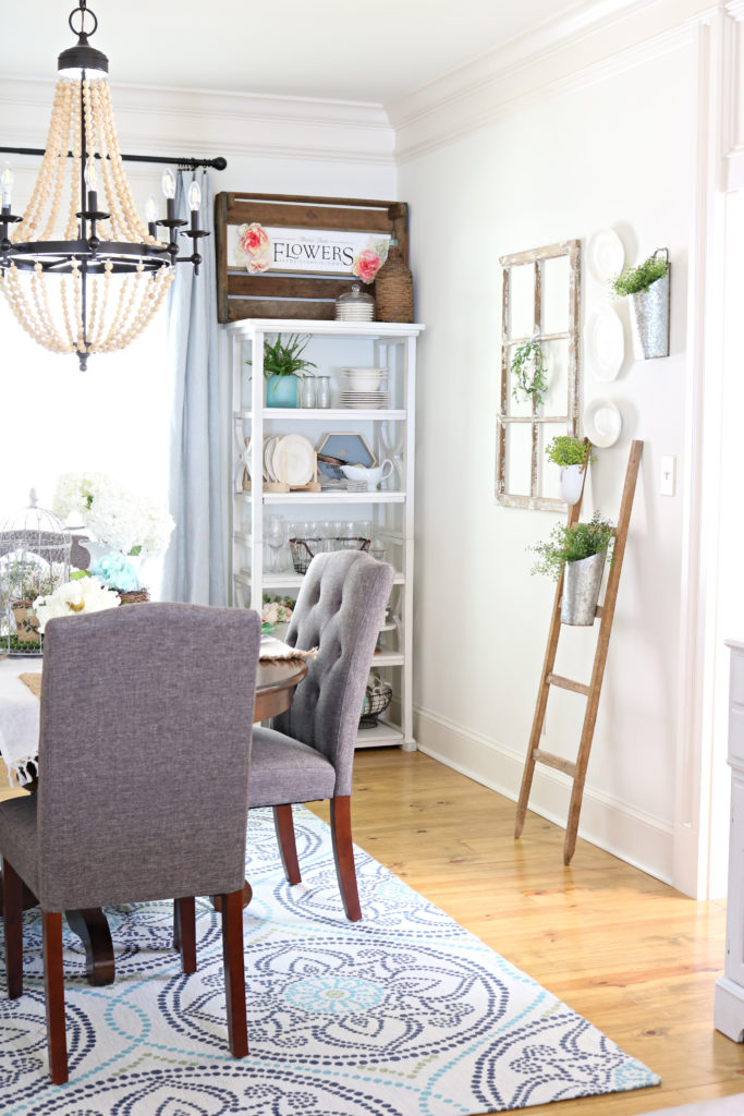 Chairs refresh dining room plus creative open shelving