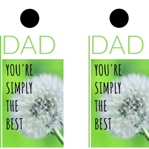 Large gift tag perfect for Father's day gift giving