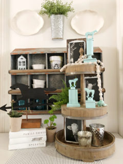spray paint trophy for decor idea