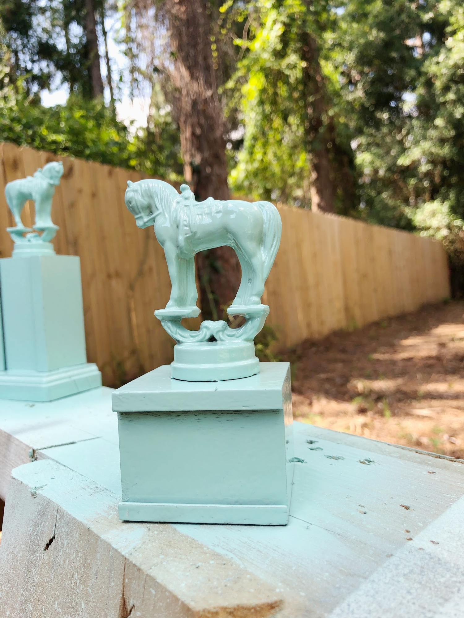 spray paint trophy for easy home decor repurposing