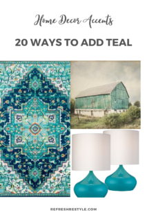 20 ways to teal home accents