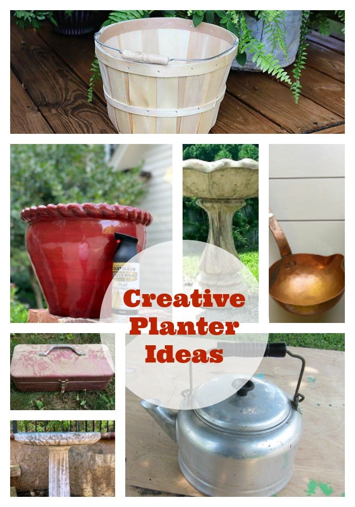 Creative Planter Ideas - Brass Plant holder and more