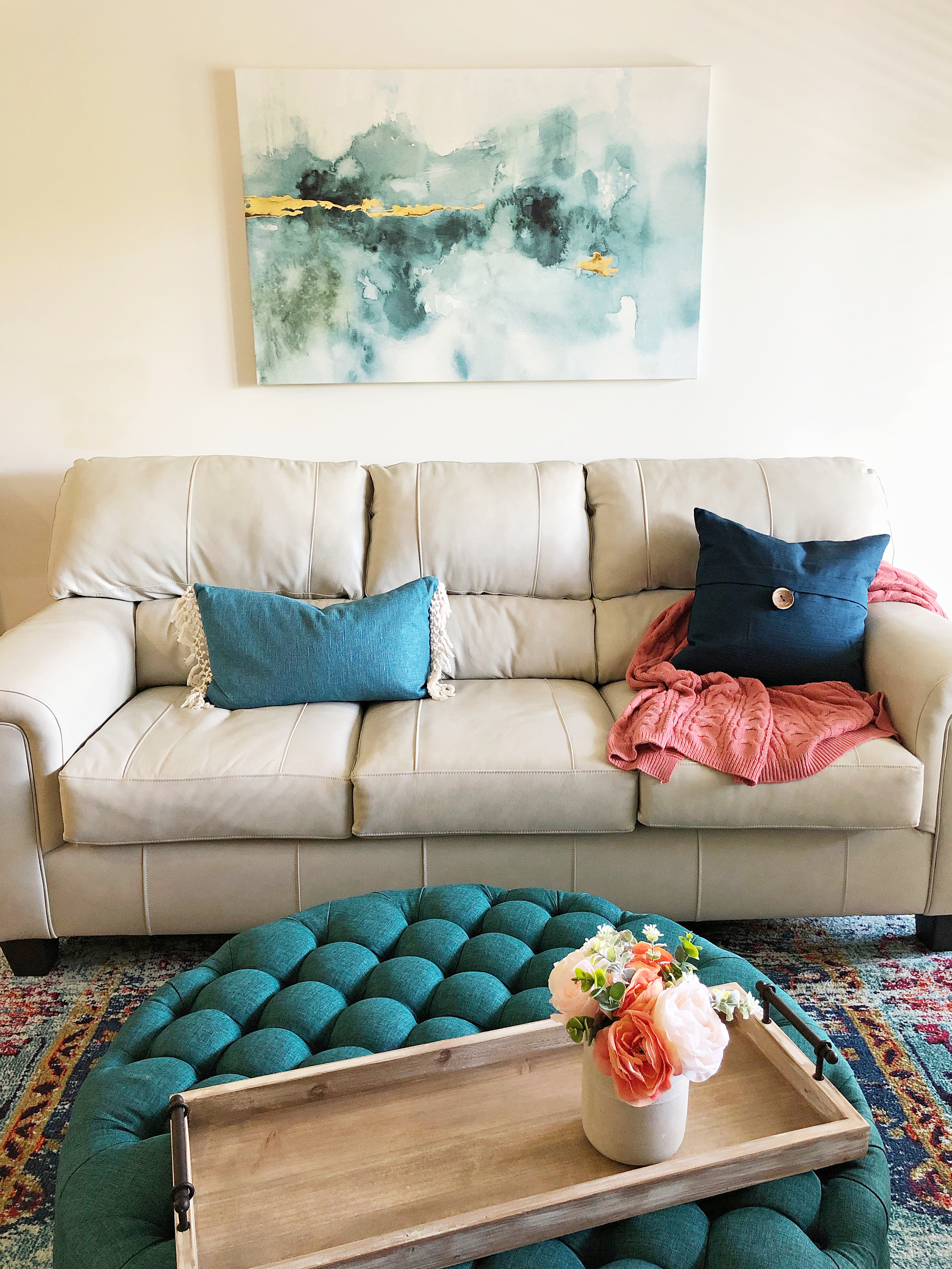 Living room teal accents - TEAL LIVING ROOM DECOR - LAKE CONDO or Beach