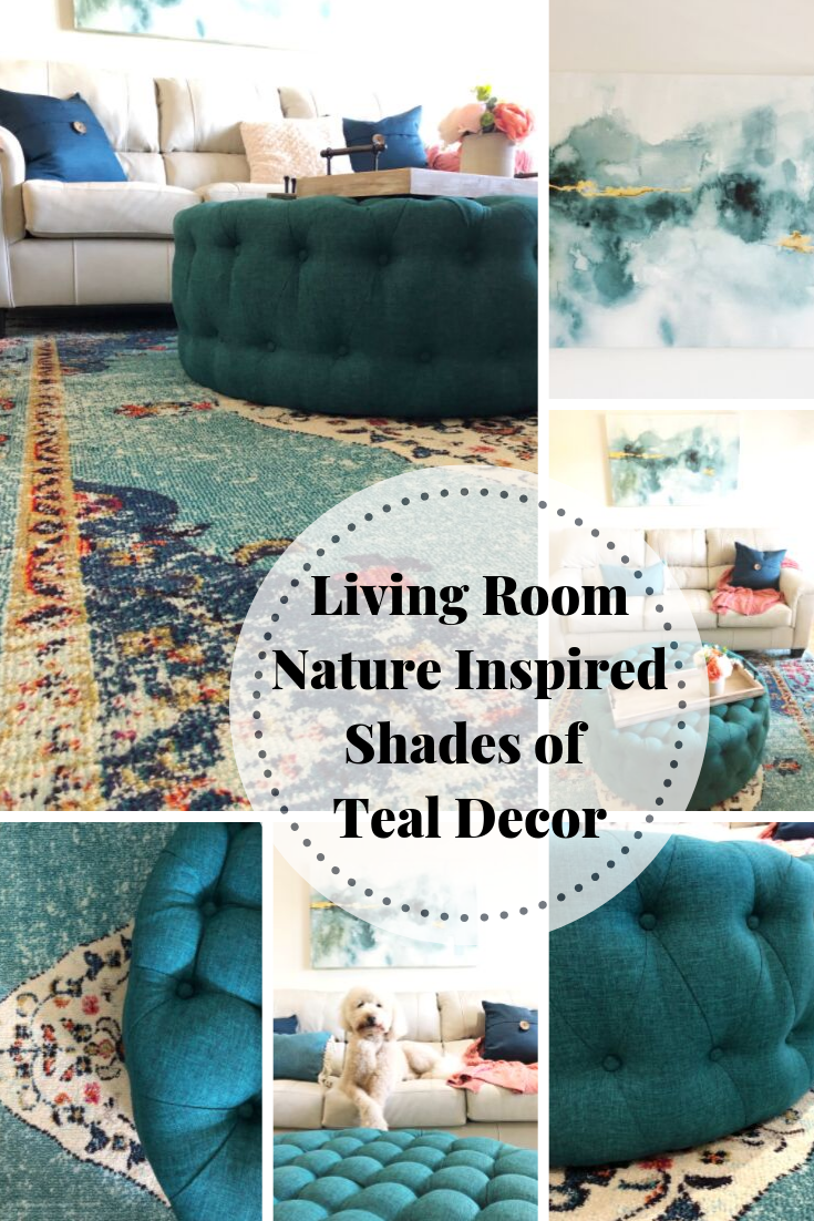 Nature inspired Home decor shades of teal for beach or lake