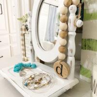 Thrift store mirror makeover