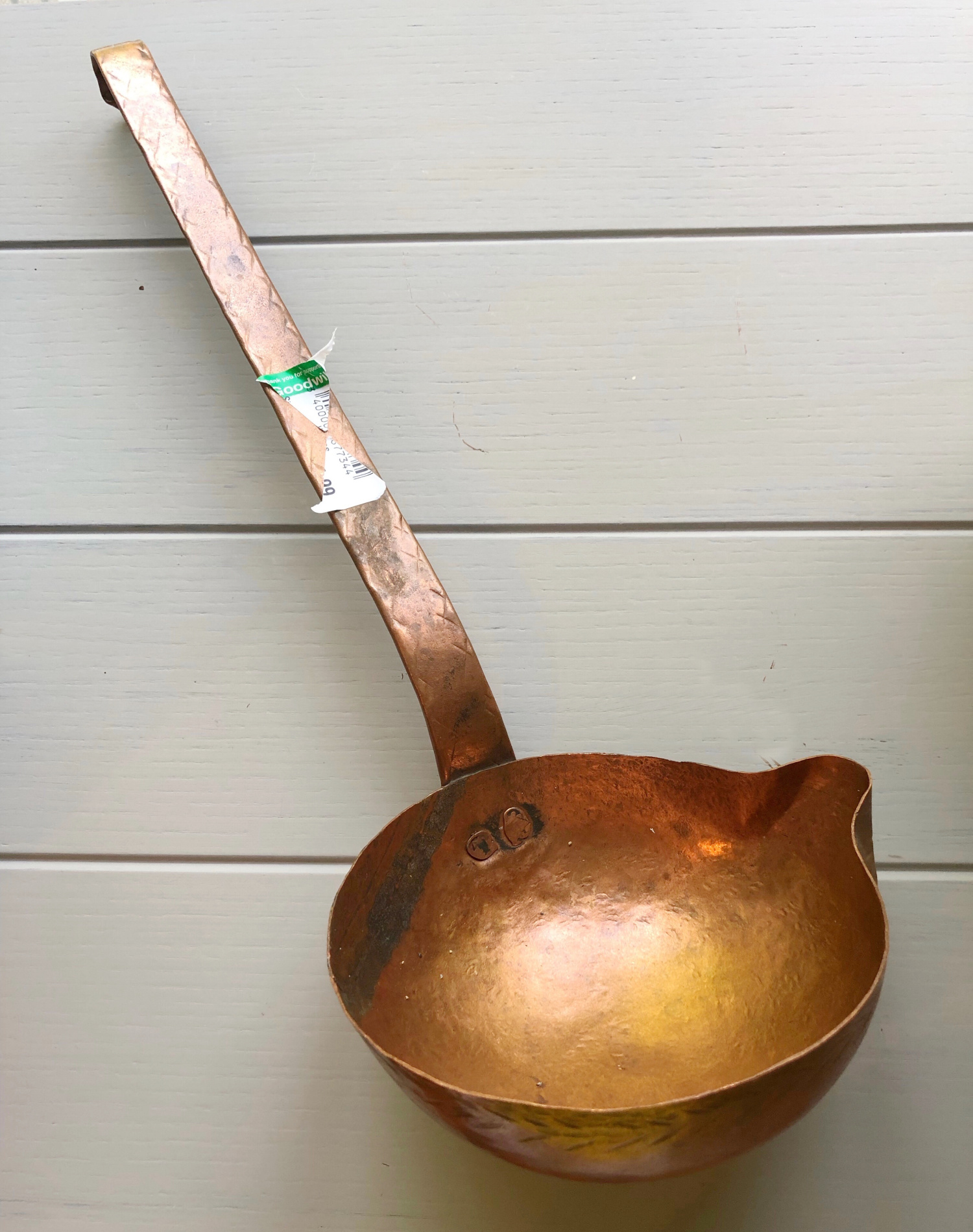 Brass ladle planter for air plants