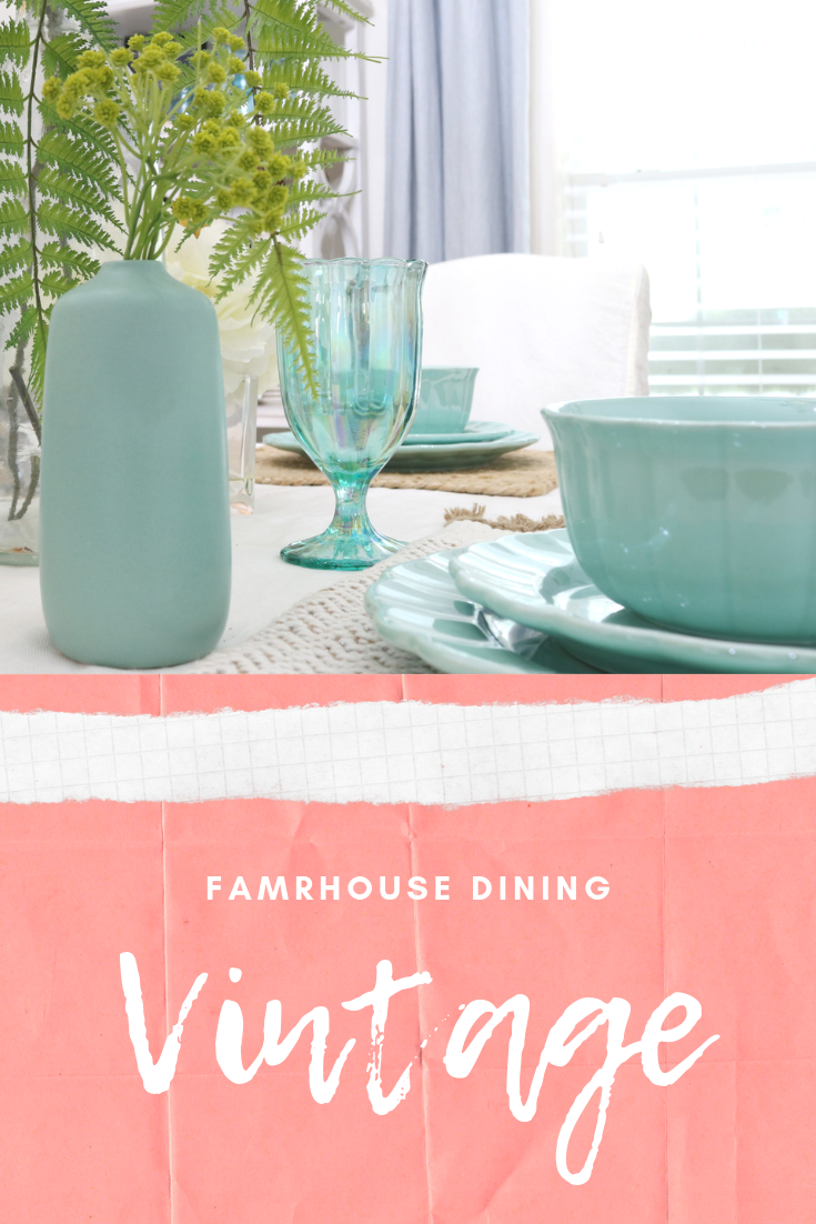 Vintage Farmhouse dining room