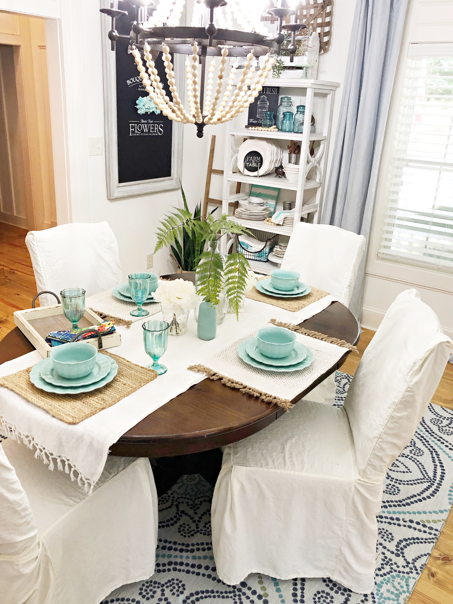 vintage farmhouse dining