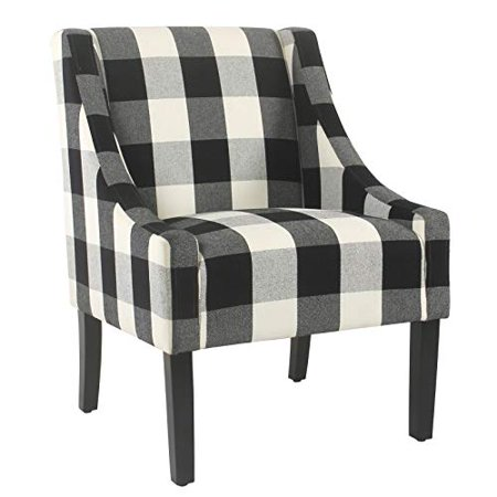 Black and white buffalo plaid chair
