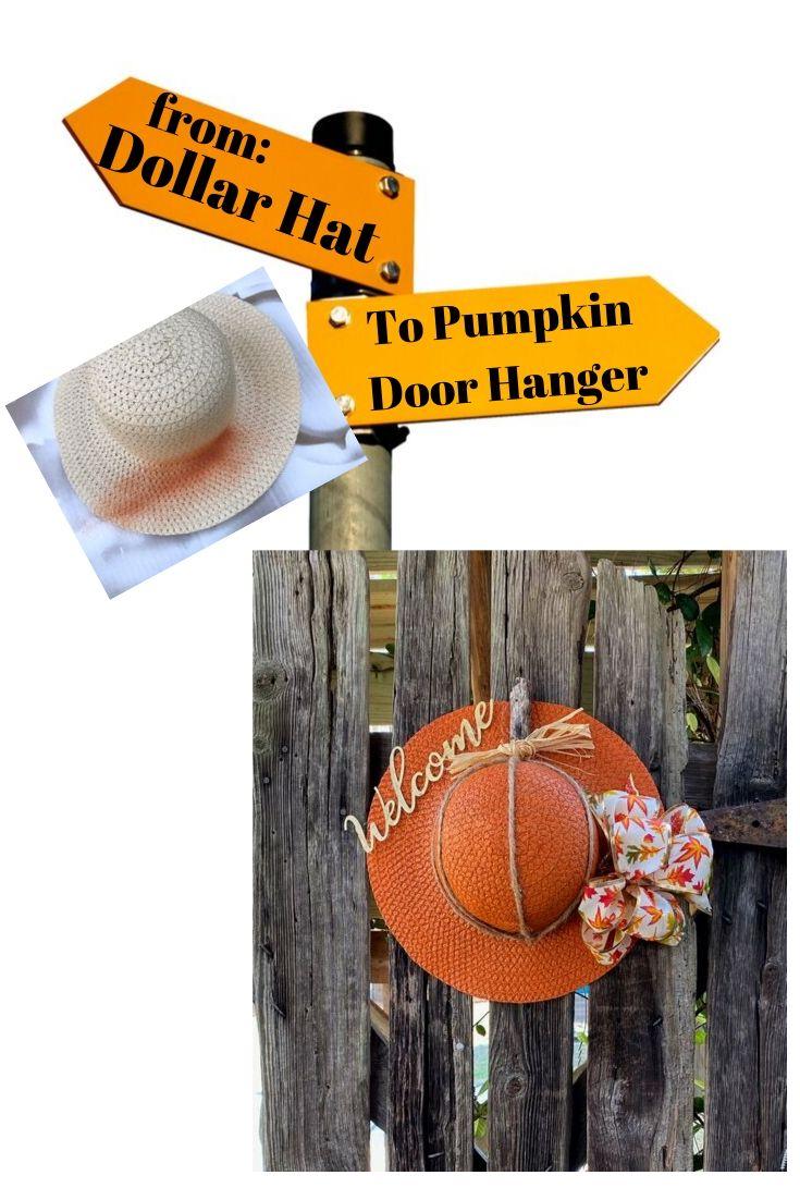 Pumpkin Door Hanger made from Dollar items