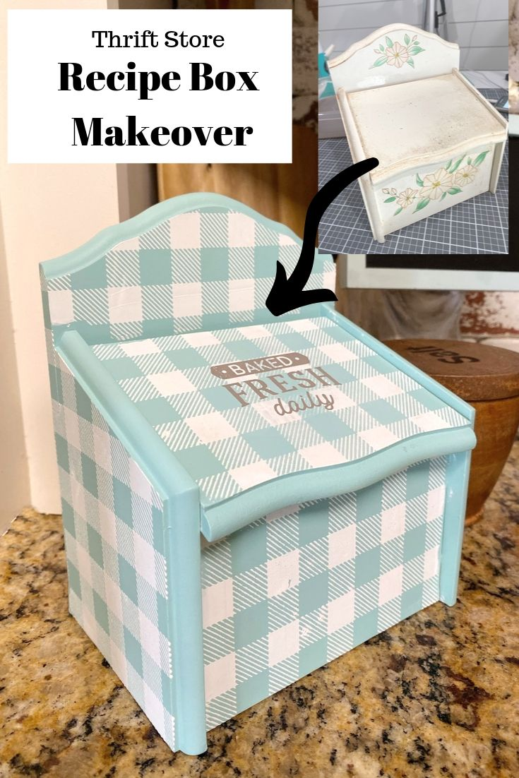 Recipe Box Makeover from the thrift store