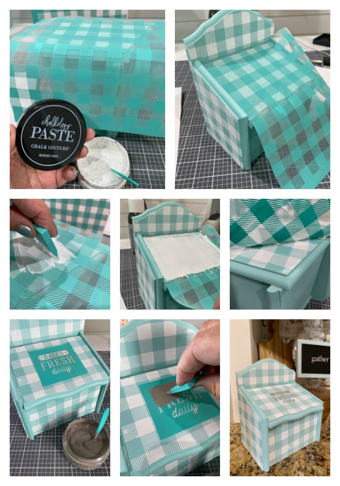 Recipe box with Chalk Couture