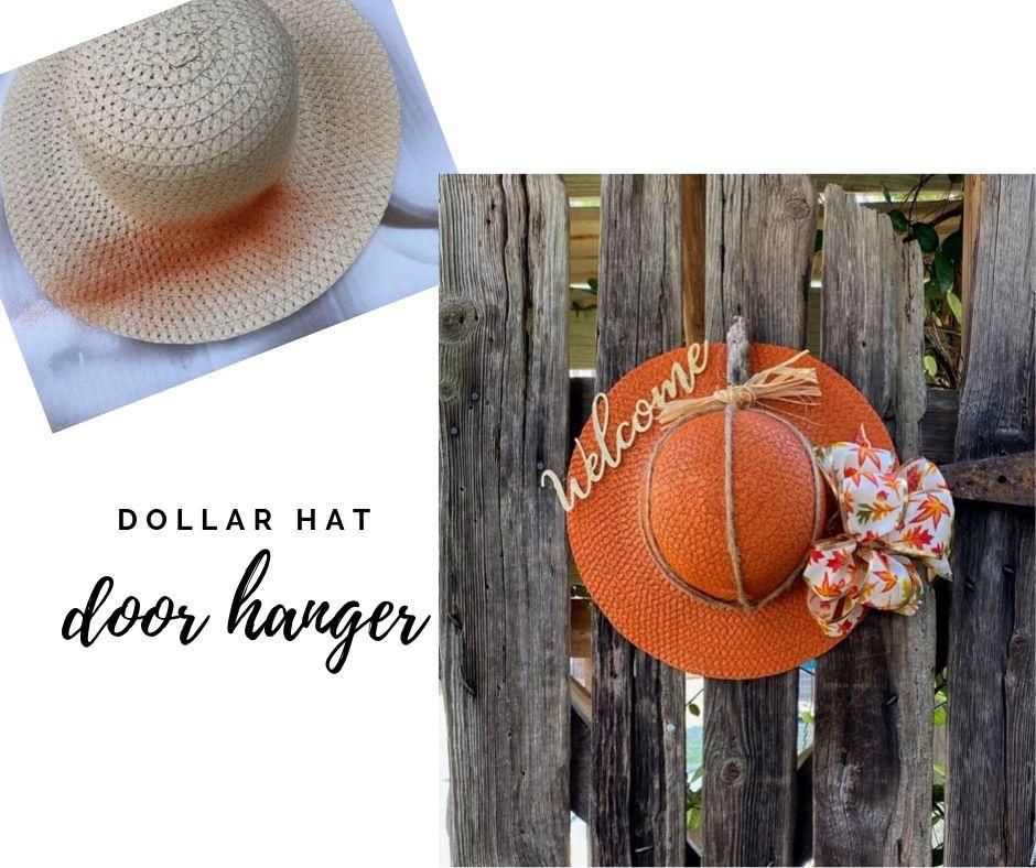 pumpkin door hanger via dollar pumpkin