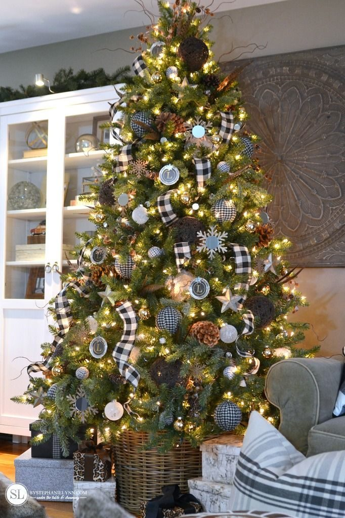 Checkered Plaid Christmas Tree