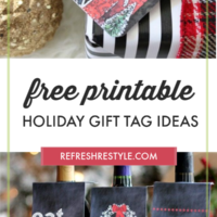 Free Printable Holiday Gift Tags | All the tags you need for gifts for FREE!