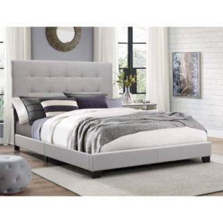 Gray panel bed