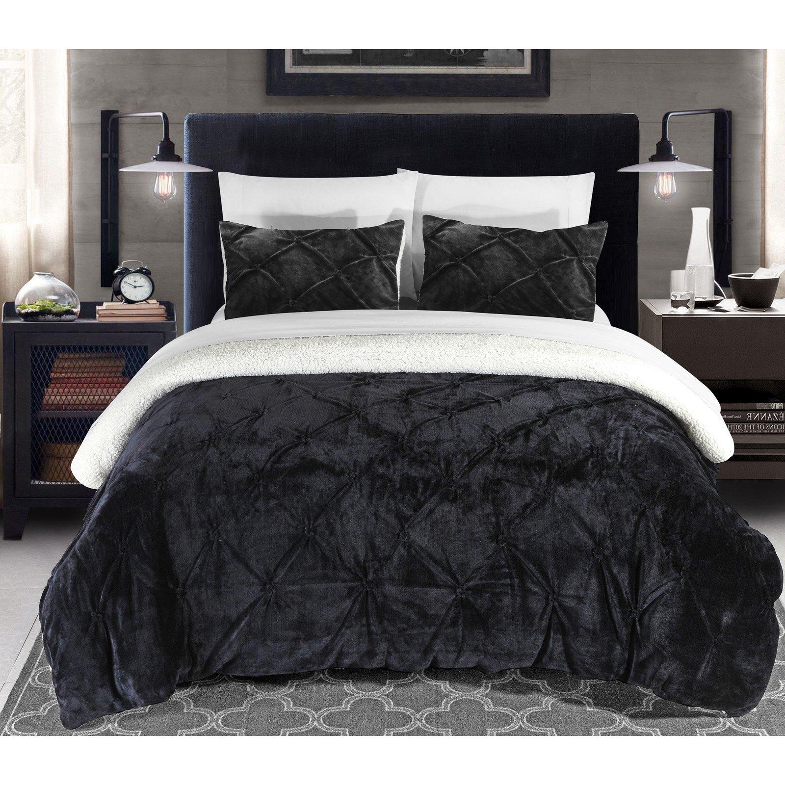 gray sherpa comforter