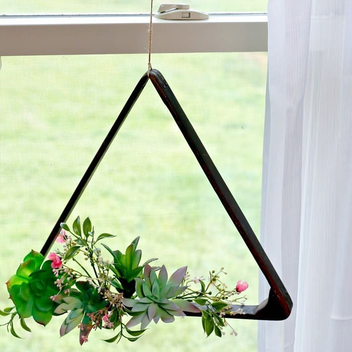 Indoor Succulent Plant Hanging Display Idea