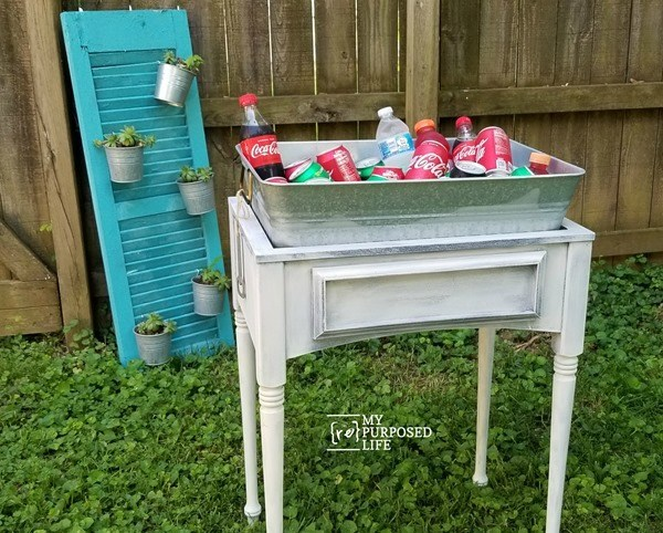 Drink Station | Sewing Machine Cabinet