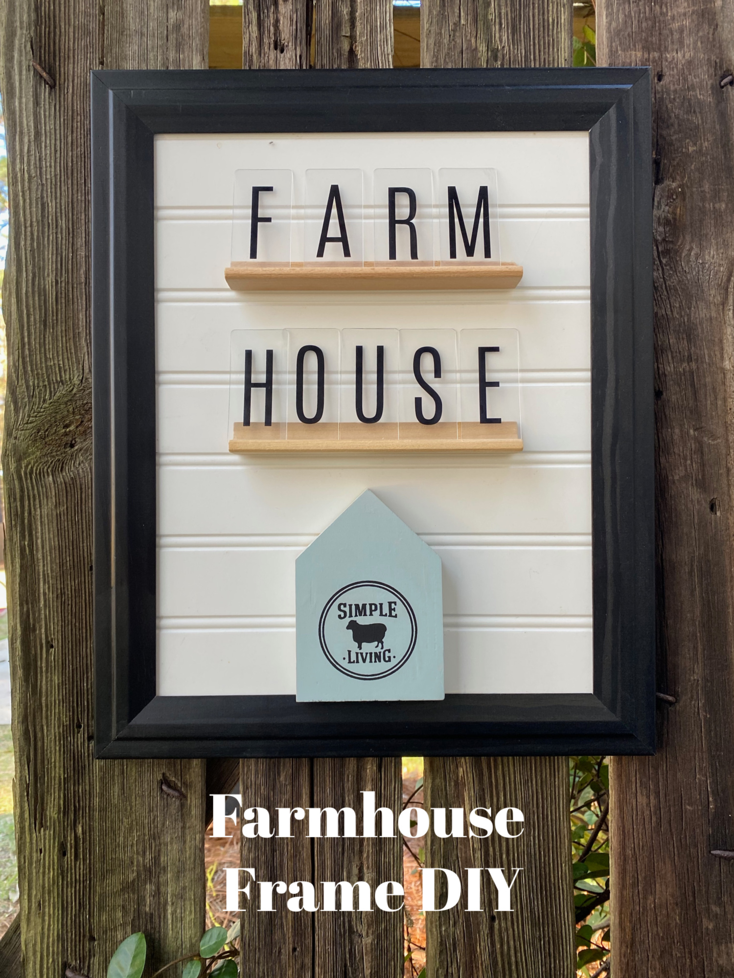 farmhouse pic frame makeover