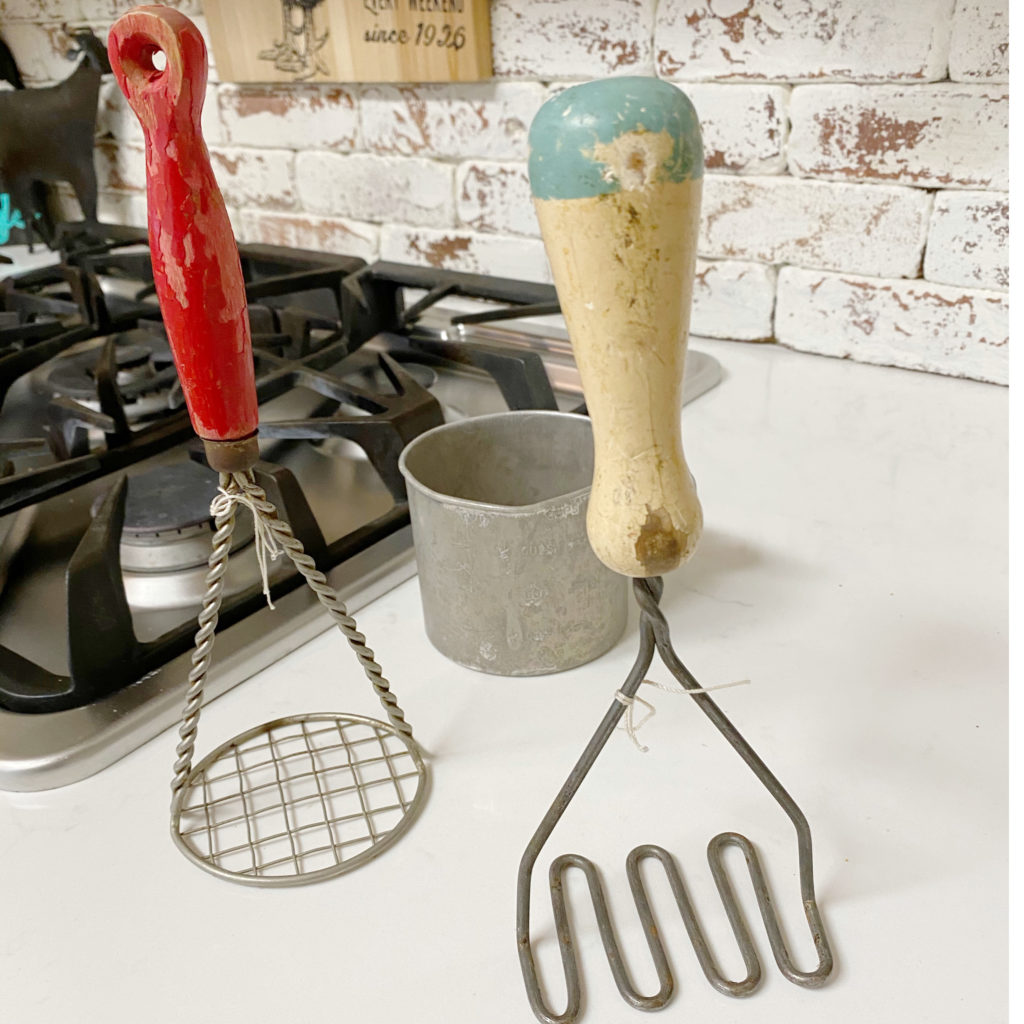 Antique Kitchen tools makeover for spring