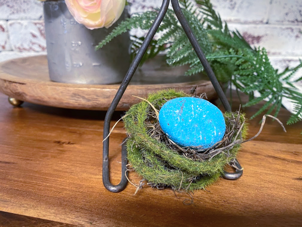 bird nest for antique utensil