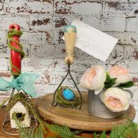 spring kitchen decor antique utensils