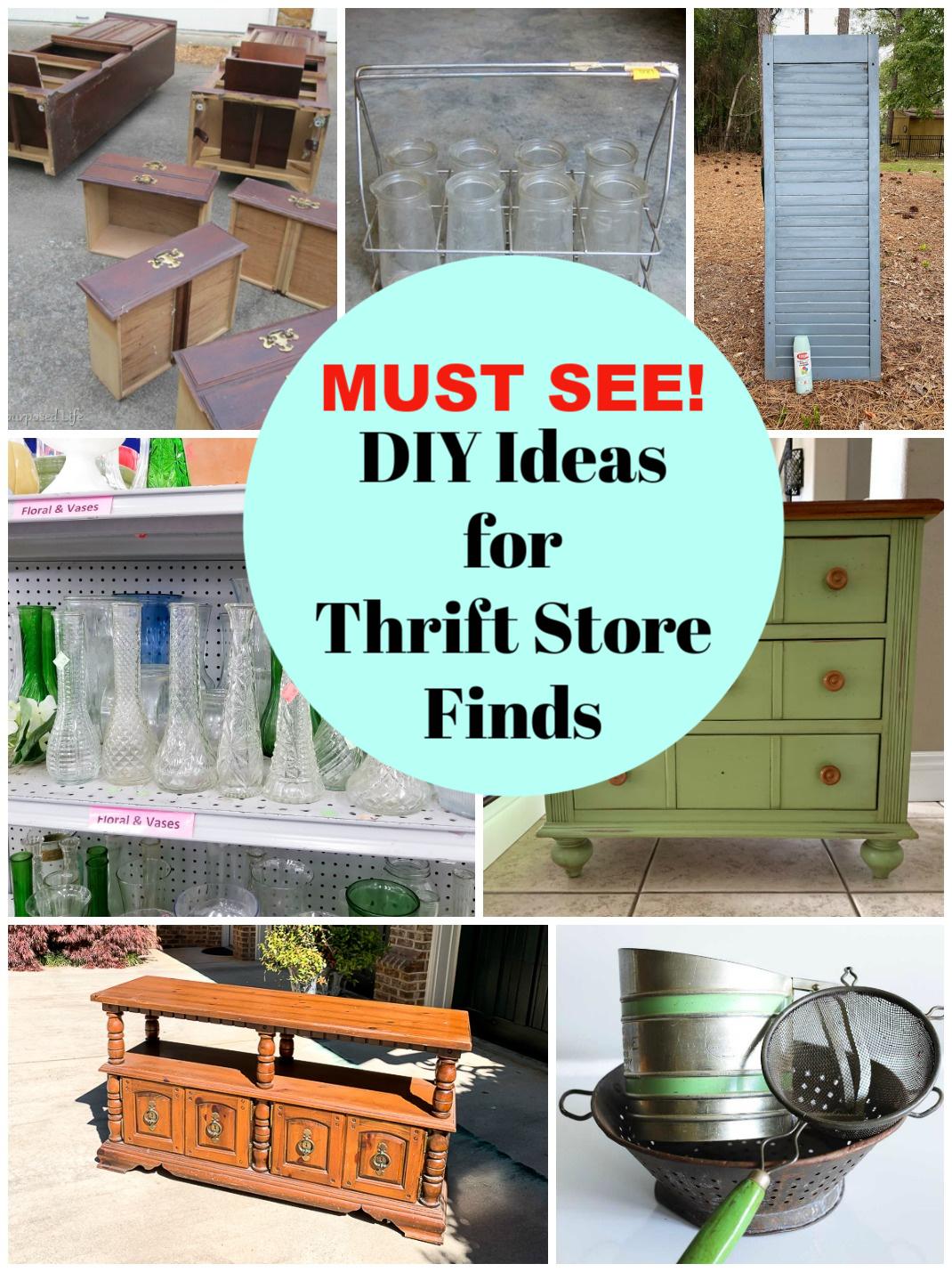 Thrift store ideas to DIY
